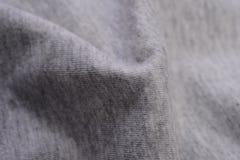Panno grigio fatto dalla fibra del cotone Fotografia Stock Libera da Diritti