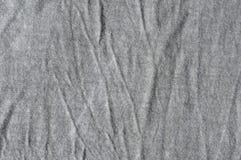 Panno grigio increspato Immagine Stock