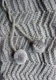 Panno grigio tricottato Fotografia Stock