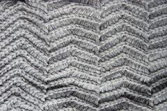 Panno grigio tricottato Fotografie Stock Libere da Diritti