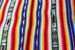 Panno peruviano Immagini Stock