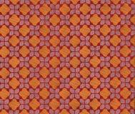 Panno, reticolo arancione dell'diamante-ispettore Fotografie Stock