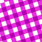 Panno rosa di picnic Immagini Stock
