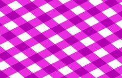 Panno rosa di picnic Fotografia Stock