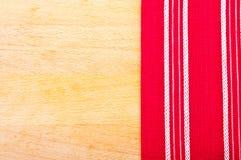 Panno rosso con le linee bianche Fotografia Stock Libera da Diritti