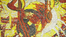 Panno steelmaking ladle. Mosaics wall with drawing steelmaking ladle stock video