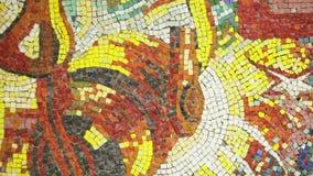 Panno steelmaking ladle. Mosaics wall with drawing steelmaking ladle stock footage