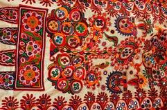 Panno tradizionale Colourful. fotografia stock