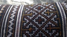 Panno tricottato della coperta del tessuto Fotografia Stock Libera da Diritti