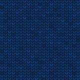 Panno tricottato senza cuciture blu illustrazione vettoriale