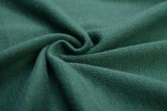 Panno verde-cupo fatto dalla fibra del cotone Immagini Stock