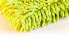 Panno verde della polvere Fotografia Stock