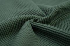 Panno verde grigiastro fatto dalla fibra del cotone Fotografia Stock