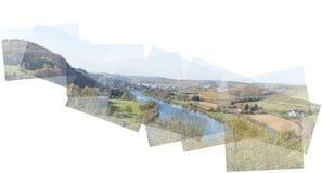 Pannografie-pannorama des Flusses Mosel Stockfotografie