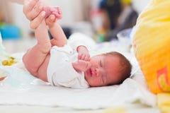 Pannolini del bambino fotografia stock