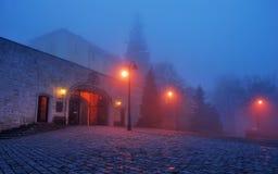 Pannonhalma Abbey Night Imágenes de archivo libres de regalías