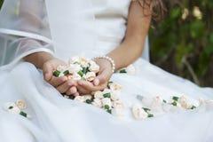 Panny młodej świętego communion pierwszy kwiaty Obrazy Stock