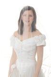 panny młodej caucasian suknia tęsk zdjęcie stock