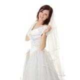 panny młodej caucasian suknia tęsk obraz stock