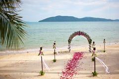 panny młodej ceremonii kwiatu ślub Obrazy Royalty Free