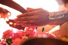 panny młodej ceremonii kwiatu ślub fotografia royalty free