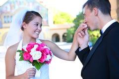 panny młodej fornala ślub Fotografia Royalty Free