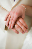 panny młodej fornala ręki Fotografia Royalty Free