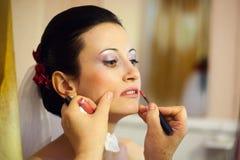 panny młodej makeup Zdjęcia Royalty Free