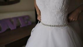 Panny młodej narządzanie dla ślubnej ceremonii zdjęcie wideo
