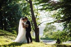 panny młodej pary sukni fornala podłogowe ręki trzyma przyglądającego portreta romantycznego obsiadanie nadają się up jest ubrany Obraz Royalty Free