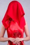 panny młodej przesłona chińska czerwona Fotografia Royalty Free
