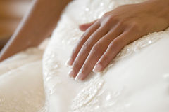 Panny młodej ręka zdjęcie royalty free