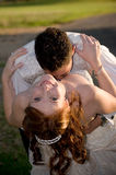 panny młodej rozszczepienia pary fornala całowanie Obraz Stock