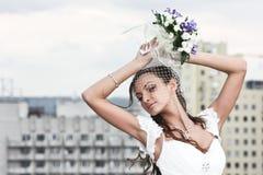 panny młodej smokingowy portreta ślub Zdjęcie Royalty Free