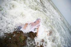 panny młodej syrenki Neptune s morze zdjęcie royalty free