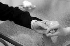 panny młodej zakończenia fornal dotyka dotykać Obrazy Royalty Free
