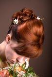 Panny młodej fryzura Zdjęcie Royalty Free