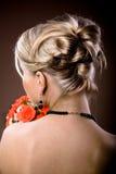 Panny młodej fryzura Fotografia Stock