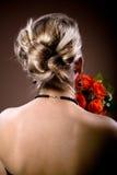 Panny młodej fryzura Fotografia Royalty Free