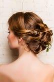 Panny młodej fryzura Obraz Stock