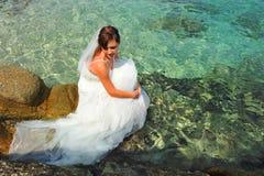 panny młodej morze Zdjęcie Royalty Free