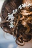 Panny młodej ` s fryzura Zdjęcie Royalty Free