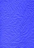 Pano azul - textura de linho do material da tela Fotos de Stock