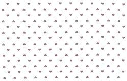 Pano branco com corações cinzentos teste padrão, fundo Foto de Stock Royalty Free