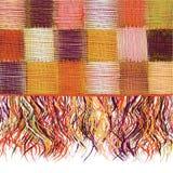 Pano colorido do weave dos retalhos quadriculado com franja ilustração royalty free
