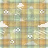 Pano com nuvens e chuva   Foto de Stock