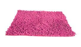Pano cor-de-rosa do espanador isolado Imagens de Stock Royalty Free