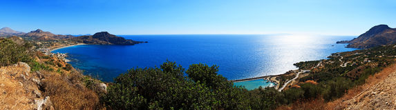 Pano of Crete coastline Royalty Free Stock Image