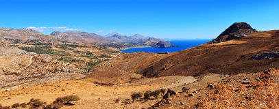 Pano of Crete island Stock Photography