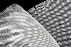 Pano da fibra de vidro no backround preto Imagens de Stock